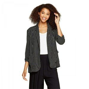 NWT Xhilaration Striped Soft Blazer Large Black